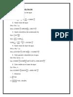 Cálculos de Haz de tubos verticales