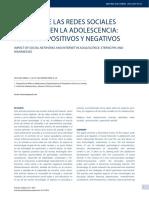 IMPACTO DE LAS REDES SOCIALES E INTERNET EN LA ADOLESCENCIA