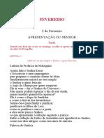 Leccionário Santoral - 02 Fevereiro