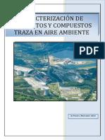 Caracterizacion de Elementos y Compuestos Traza en Aire Ambiente 2013