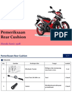 Juklak Pemeriksaan Rear Cushion Sonic 150R