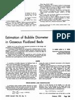 Estimation of Bubble Diameter in Gaseous Fluidized Beds