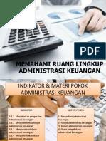 1. Memahami Ruang Lingkup Administrasi Keuangan