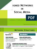 Signed Networks in Social Media