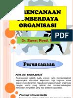 Perencanaan Sumber Daya Organisasi
