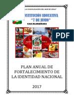 Plan de Fortalecimiento de La Identidad Nacional 2017