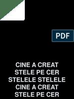 Cine A Creeat Stelele Pe Cer.ppt