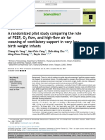Randomized Pilot Study Comparing the Role of PEEP, O 2 Flow, And High-flow Air for Weaning of Ventilatory Support