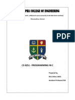 CS8251-Programming in C Notes