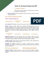 GATE 2018 Syllabus for Mechanical Engineering PDF