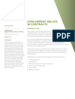 Concurrent Delays in Contracts