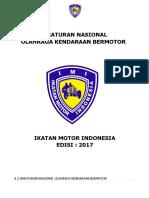 Peraturan Nasional Olahraga Kendaraan Bermotor 2017
