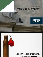 Etik idag