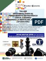 Folleto Final Taller Ajedrez y Estrategia 2018