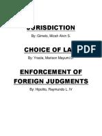 Jurisdiction Choiceoflaw Enforcement
