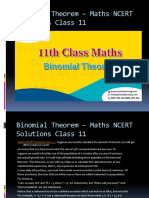 Binomial Theorem – Maths NCERT Solutions Class 11