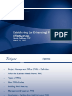 Establishing or Enhancing PMO Effectiveness