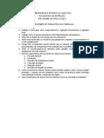 Questionário - Sistema Nervoso Autonomo