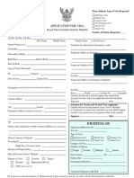 Thai Visa Form Mumbai