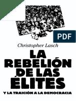 Lasch - La Rebelion de Las Elites [OCR]