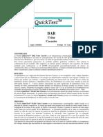 QuickTest™ BAR Urine Cassette