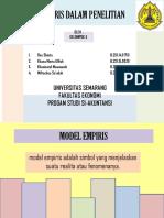 Model Empiris Dalam Penelitian