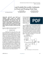 Design Efficientand Scalable Reversible Arithmetic Logic Unit for Fixed and Floating Point Data
