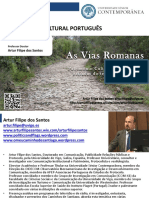 Património Cultural Português - As Vias Romanas Em Portugal - Artur Filipe Dos Santos