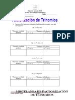 factorizacion de trinomios