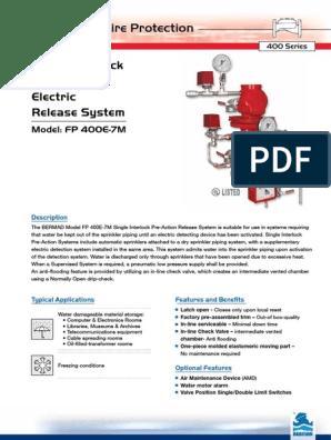 36-400E-7M-final pdf | Fire Sprinkler System | Valve