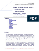Enhancing Creativity of Elementary Science Teachers