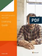 Microsoft Dynamics NAV 2017 Licensing Guide