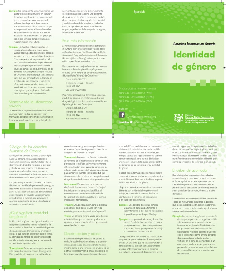Human Rights in Ontario_Gender Identity_Spanish_accessible