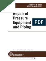 ASME PCC-2-2015 Repair of Pressure
