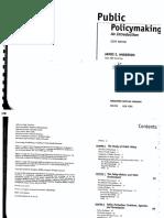 Public Policymaking- James E Anderson Part 1