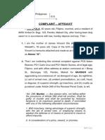 Complaint Affidavit Prac Court