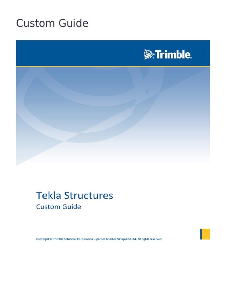 Tekla User Assistance - - | Installation (Computer Programs