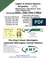 Warrington Branch Poster 2018