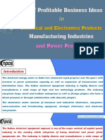 List of Profitable Business Ideas in Electrical and Electronics Products Manufacturing Industries and Power Projects.
