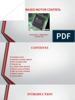 Dsp Based Motor Control