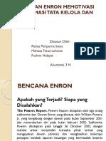 Kejadian Enron Memotivasi Reformasi Tata Kelola Dan Etika