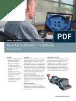 Siemens PLM NX CAM 3 Axis Milling Add on Fs Tcm1023 119217