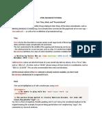 HTML Intermediate Tutorial