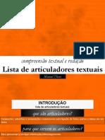 Lista de Articuladores Textuais
