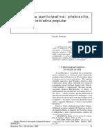 Democracia Participativa - Plebiscito, Referento e Iniciativa Popular