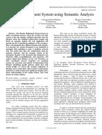 Resume Refinement System using Semantic Analysis