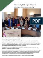 International Women's Day - Belgian Parliament March 2018 - Parliamentarians Support Iranian Women in Uprising