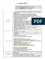 Fiche de Poste Assistant de Direction