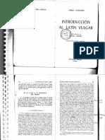 INTRODUCCION  AL LATIN VULGAR -Väänänen