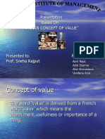 Indian Concept of Value